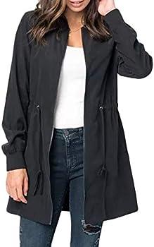 Blencot Women's Casual Lightweight Zip Up Suede Jacket