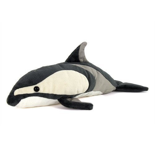 Realistic stuffed Pacific white-sided dolphin