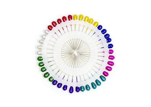 40 Pieces Multi Colored Berry or Pearl Head Pins