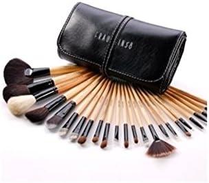 kit de pinceles de maquillaje profesional de 24 piezas de madera y marta con estuche by DELIAWINTERFEL: Amazon.es: Belleza