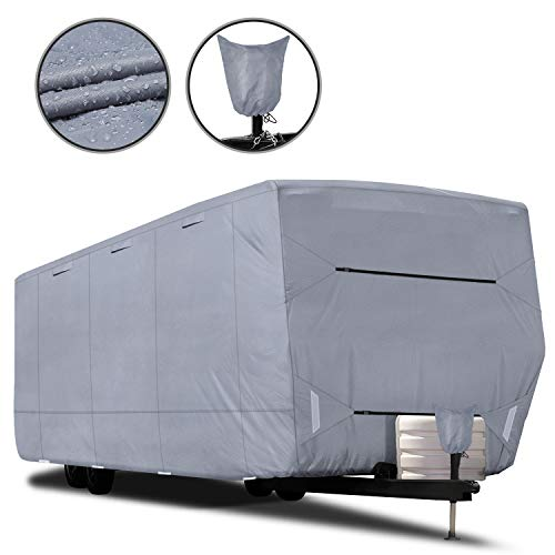 RVMasking Upgraded 100% Waterproof Oxford Travel Trailer RV Cover