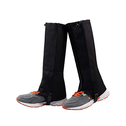 QEES Leg Gaiters for Boots, Waterproof Gaiters for Hiking, Universal Snow Boot Gaiters for Hunting, Climbing, Snow High Leg Gaiters JJZ165