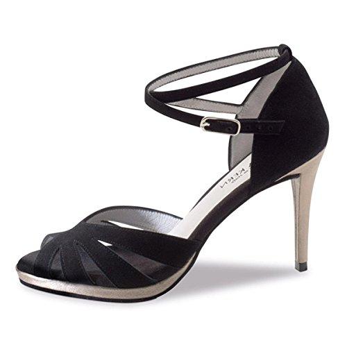 de Noir Suède 80 910 8 Noir Anna cm Femmes Danse Chaussures Kern PtqnnAFaR