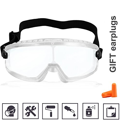 Dust Goggles Painting Lab Glasses Fogless Heavy Duty Safety Protective Construction Splash Transparent Clear Anti Paint Fog Spray Dust Scratch Protection for Chemical Half Mask - Frames Spray Paint Glasses