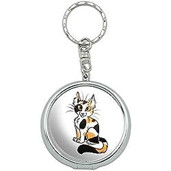 Portable Travel Size Pocket Purse Ashtray Keychain Cat Kitty Kitten - Calico Cat Pet