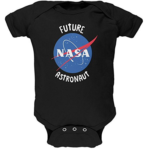 Future NASA Space Astronaut Black Soft Baby One Piece - 12-18 months (Astronaut Mask)