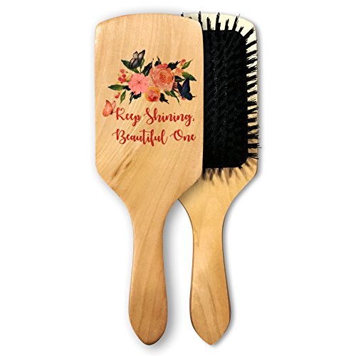 100 Percent Hair Brush (All Natural 100% Boar Bristle Hair Brush For Women, Men & Children By Phoebe Natural - Condition & Strengthen Your Hair Naturally, Luxurious & Ergonomic Wood Handle & Inspirational Quote)
