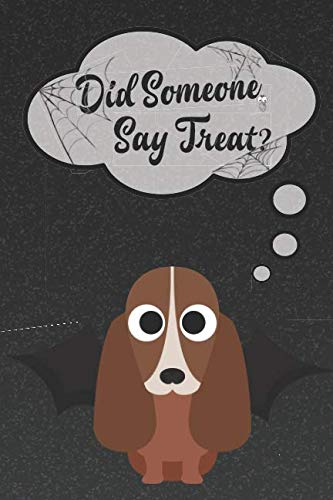 Basset Hound Lined Notebook: A Halloween Themed Notebook For Basset Hound Lovers (Dog Halloween Notebooks and Journals)]()