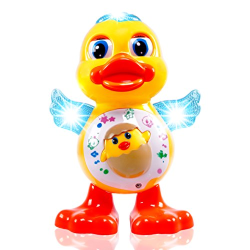 Musical & Dancing Light Up Duck Toy For Kids By CifToys. Dancing Toy. Moving Music Yellow Duckling.