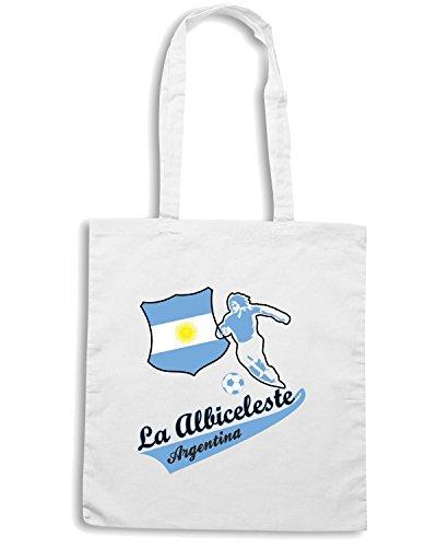 T-Shirtshock - Bolsa para la compra WC0022 ARGENTINA Blanco