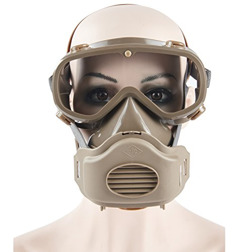Joyutoy Safety Mask Industrial Gas Chemical Anti-Dust Paint Respirator Mask Goggles Set