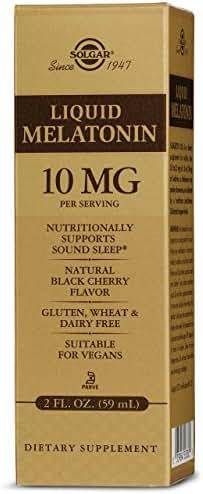 Solgar – Liquid Melatonin 10 mg, 2 Oz, Natural Black Cherry Flavor