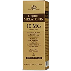 Liquid Melatonin 10 mg, 2 Oz, Natural Black Cherry Flavor - Supports Relaxation and Sound Sleep