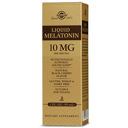 Solgar - Liquid Melatonin 10 mg, 2 Oz, Natural Black Cherry Flavor (3 Bottles)