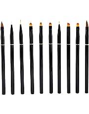 10st Nail Art Borstels Set, Nail Art Liner Patroon Tekening Acryl Nylon Borstel Pen, Thuis Salon Draagbare Nail Painting Tekening Ontwerp Borstel Set