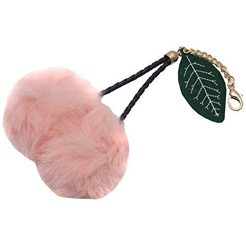 melie-bianco-girls-pink-faux-cherry-pom-pom-leaf-keychain