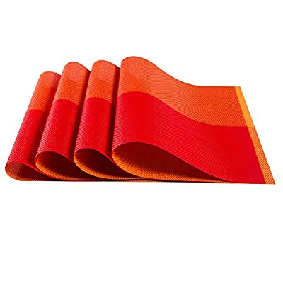 """Top Fine Eco-friendly Colorful Mats Place Mats Washable Heat-resistant for Dining Table 12"""" By 18"""""""
