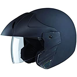 Studds Ninja Concept ECO Open Face Helmet (Matt Black, x-Large)