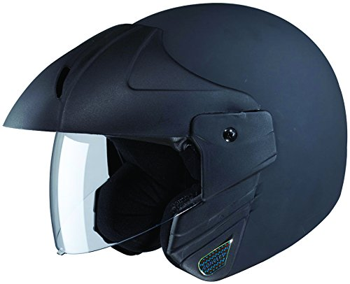 Studds Ninja Concept Economy SUS_NIAECOOFH_MBLKXL Open Face Helmet (Matt Black, XL)