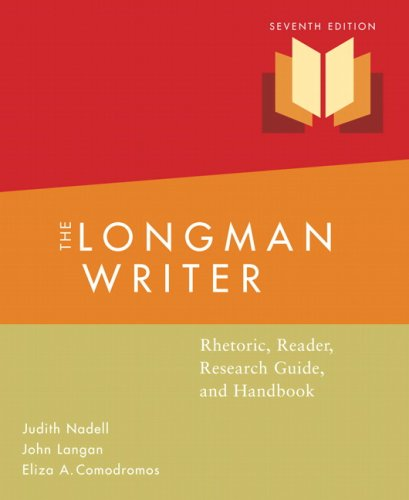 Longman Writer: Rhetoric, Reader, Research Guided Handbook Value Package (includes MyCompLab NEW Student Access )