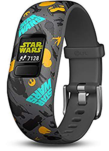 Garmin vivofit jr. 2, Kids Fitness/Activity Tracker, 1-Year Battery Life, Adjustable Band, Star Wars the Resistance