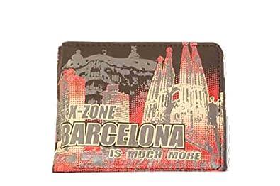 Barcelona Cartera roja monedero caballero billetero tarjeta ...