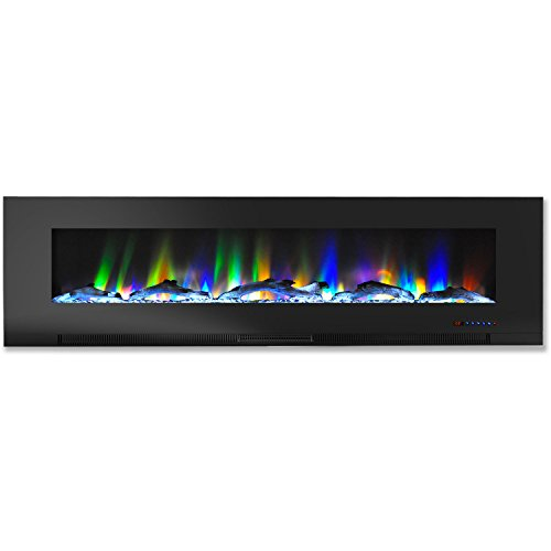 Cheap Hanover Wall-Mount Electric Fireplace 60