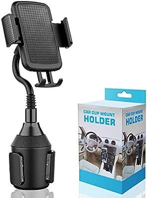 Soporte de Smartphones para portavasos de Coche-Soporte Ajustable para el sujetavasos del Coche con Cuello Flexible de 8in para iPhone, Smartphone y ...