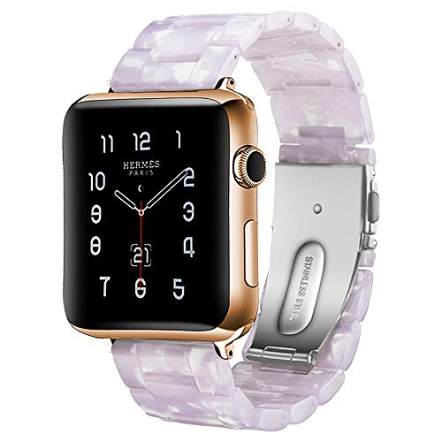 - BONSTRAP Resin Watch Strap for Apple Watch 38mm 40mm Series 1 2 3 4