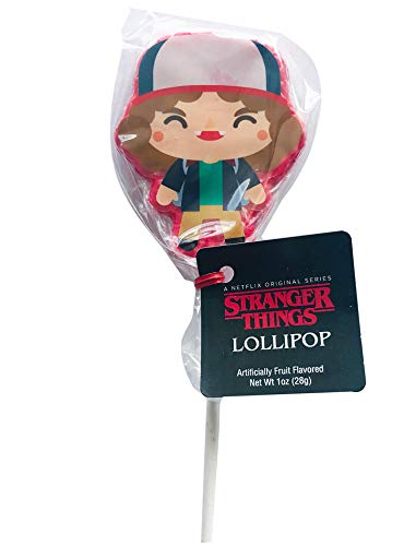 Stranger Things Dustin Lollipop! Fruit Punch-Flavored Lollipops! Stranger Things Candy Collection! Sweet And Yummy Lollipop Candy! Choose from Dustin, Eleven, Mike, Will and Lucas! (Dustin)