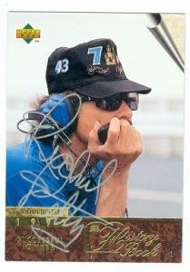 (Richard Petty Autographed Photo - card Racing 1996 Upper Deck #139 The History Book - Autographed NASCAR Cards)