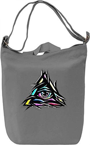 Colorful Illuminati Borsa Giornaliera Canvas Canvas Day Bag| 100% Premium Cotton Canvas| DTG Printing|