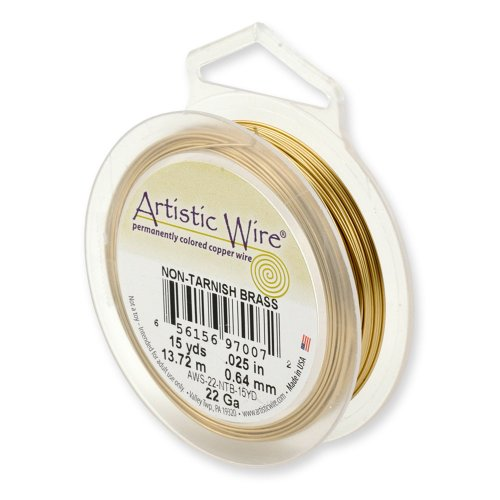 Artistic Wire 30-Gauge Non-Tarnish Brass Wire, 50-Yards ()