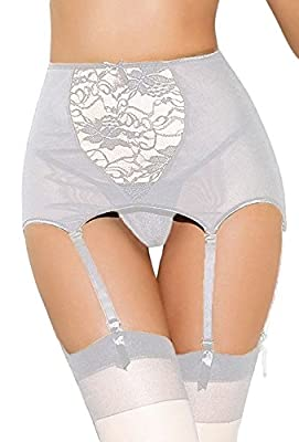 Estanla Women's Sexy High-waisted Hollow-out Lace Garters