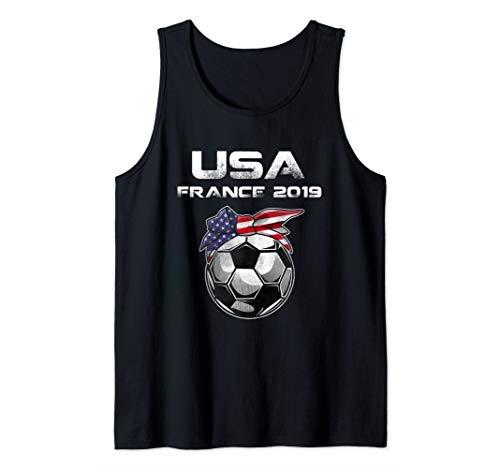 Womens USA Womens Soccer Kit France 2019 T-shirt Tank Top
