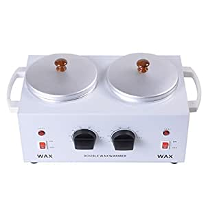 Safstar Electric Double Wax Warmer Heater Dual Parrafin Salon Hot Facial Skin Equipment