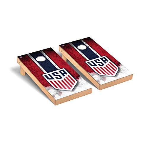 US Soccer Regulation Cornhole Game Set Vintage Version by Victory Tailgate
