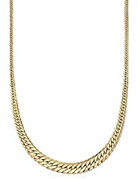 Certified Italian 18kt Yellow Gold Graduated Cuban Link Necklace