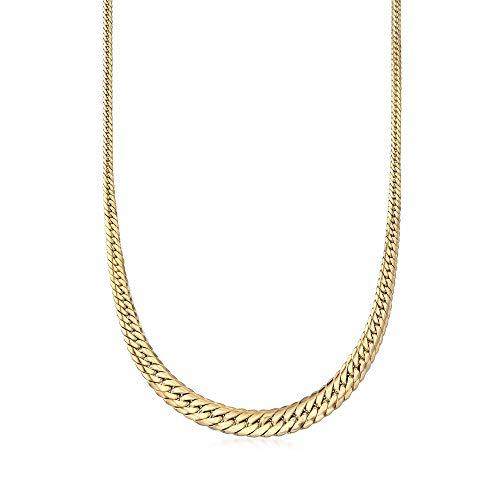 Ross-Simons Certified Italian 18kt Yellow Gold Graduated Cuban Link Necklace