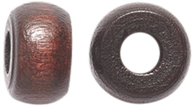 Shipwreck Beads Preciosa Czech Traditional Opaque Wood Crow Beads, 6 by 10mm, Dark Brown, 200-Pack