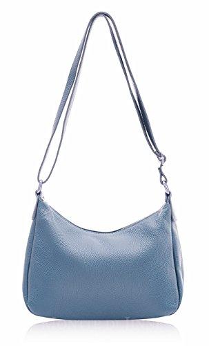 Classic Soft Women's Italian Leather Body Montte 100 Gift Bag Blue for Women Shoulder Denim Bag Cross Di Jinne 4nqcxSfI