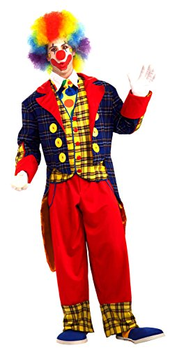 Forum Novelties Men's Checkers The Clown Costume, Multi, Standard -