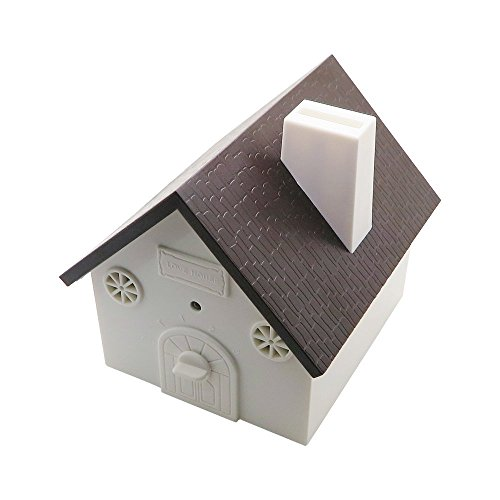 CY Outdoor Bark Controller Sonic Bark Deterrents in Newest Birdhouse Shape (Black)