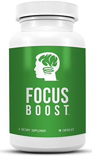 Focus Boost - Premium Brain Supplement for Supporting Memory and Alertness. With Acetyl L Carnitine, Caffeine, Citicoline, Bacopa Maonnieri, L-theanine and Vinpocetine. Top Rated Nootropic That Supports Brain Health. by Nature Boost Labs
