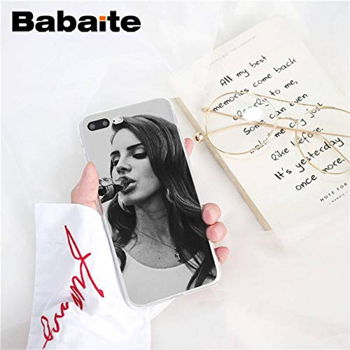 Inspired by Lana Del Rey Phone Case Compatible With Iphone 7 XR 6s Plus 6 X 8 9 Cases XS Max Clear Iphones Cases TPU- Tape- Posters- Mp3- Remix- Remix- 32961635036
