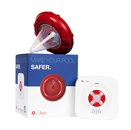 (Lifebuoy Pool Alarm System - Pool Motion Sensor - Smart Pool Alarm That is Application Controlled. Powerful Sirens Blare at Poolside and Indoors)