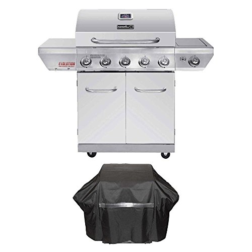 Nexgrill Evolution 5-Burner Propane Gas Grill in Stainless Steel with Side Burner and Infrared Technology Plus Cover and Tool Set