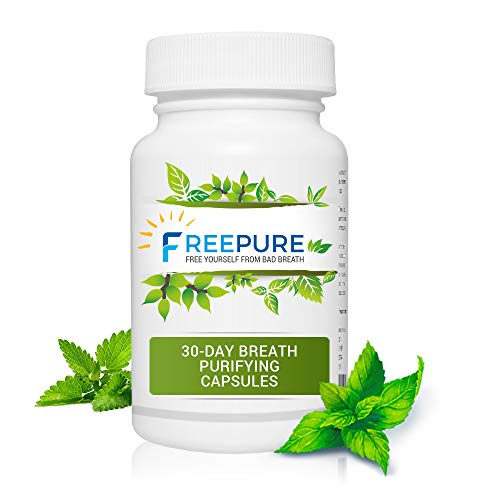FreePure-30 Day Breath Purifying Capsules, Maximum Potency Natural Bad Breath Remedy, Herbal Halitosis Relief