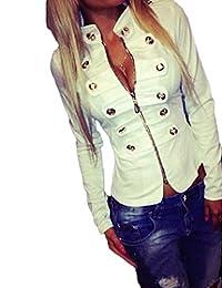Women's Sexy Bodycon Zipper Open Front Jackets