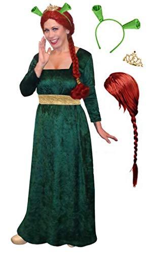 Sanctuarie Designs Women's Princess Fiona Plus Size Costume/4pc Dress,Ears,Crown-Wig Kit/0x/ -